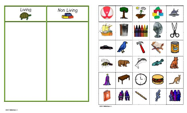 Science LivingNon living Sort – Living and Nonliving Worksheet