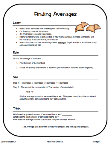 ... with a mini lesson and word problems one per page eight problems total