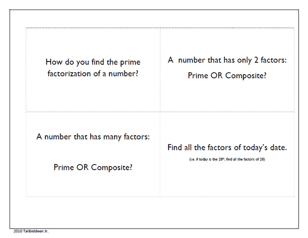 Prime Factorization CompositePrime Numbers – Prime and Composite Worksheets